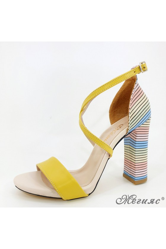 Lady sandals yellow 107