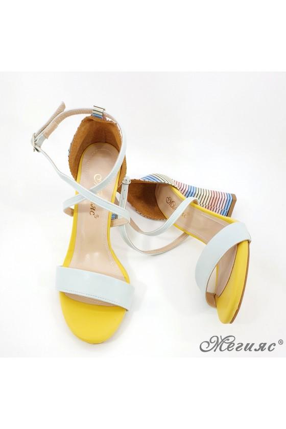 Дамски сандали елегантни мента 107