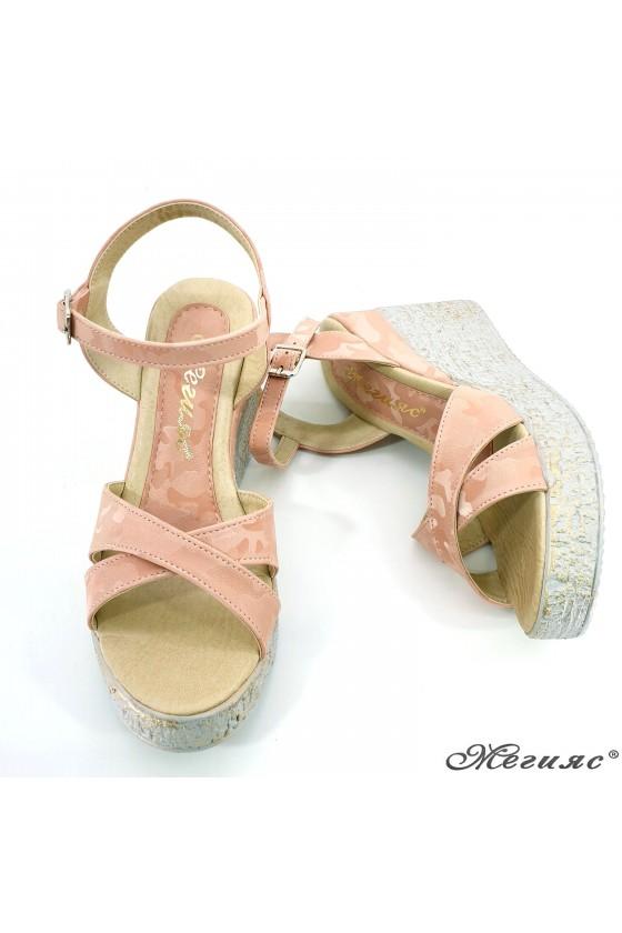 Дамски сандали пудра камуфлаж 2005