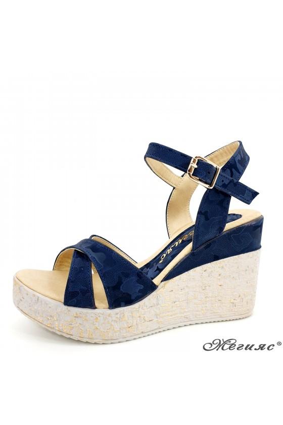 Lady sandals blue pu 2005