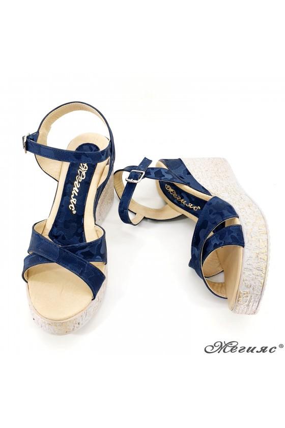 Дамски сандали син камуфлаж 2005