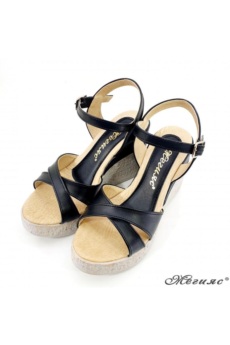 Дамски сандали черна кожа 2005