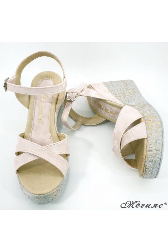 Lady sandals beige pu 2005