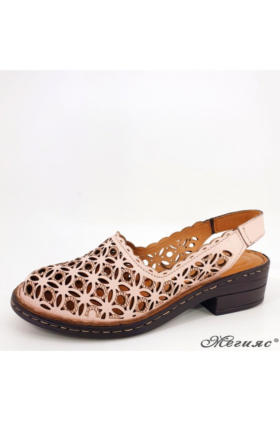 Lady sandals lt pink leather 4021-09