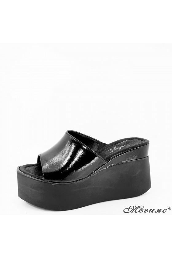 Дамски чехли черни 432