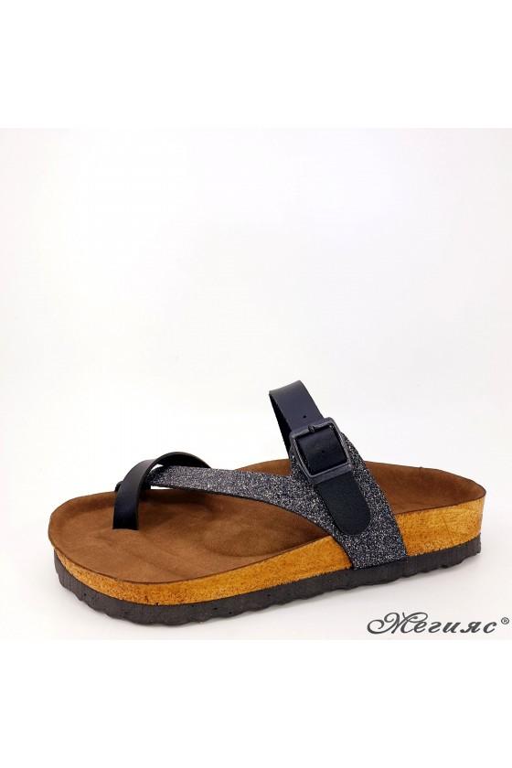 Lady slippers black 5004