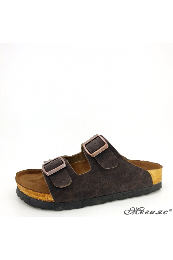 Lady flippers brown 5002