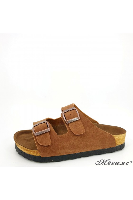 Lady flippers lt brown 5002