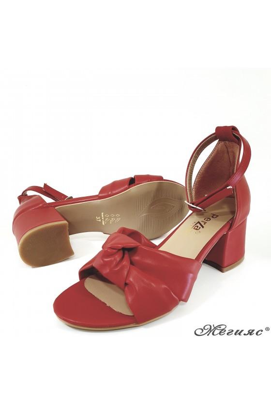 Дамски сандали  червени 3005