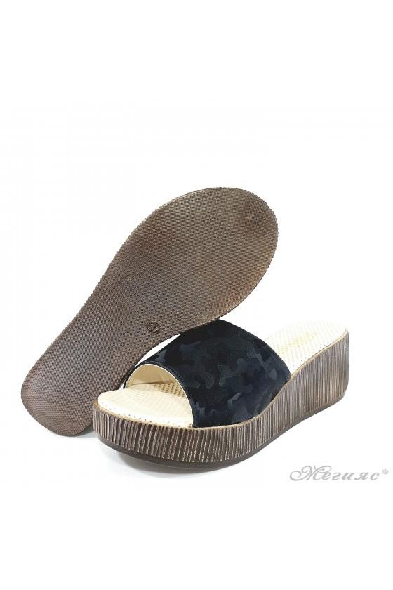 Lady flippers black pu 411