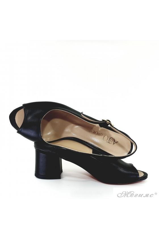 Lady sandals black pu 706