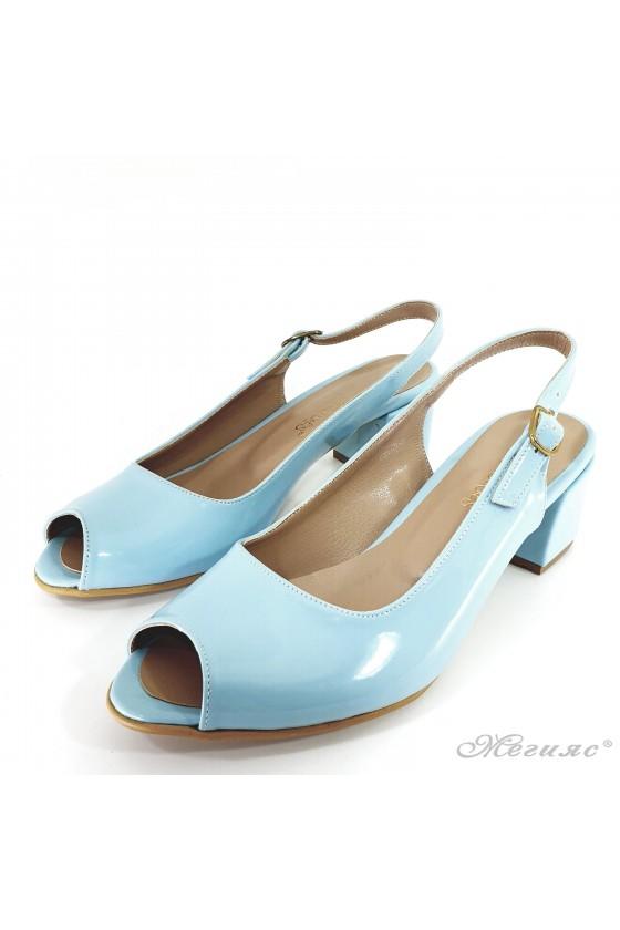 Дамски сандали сини 706