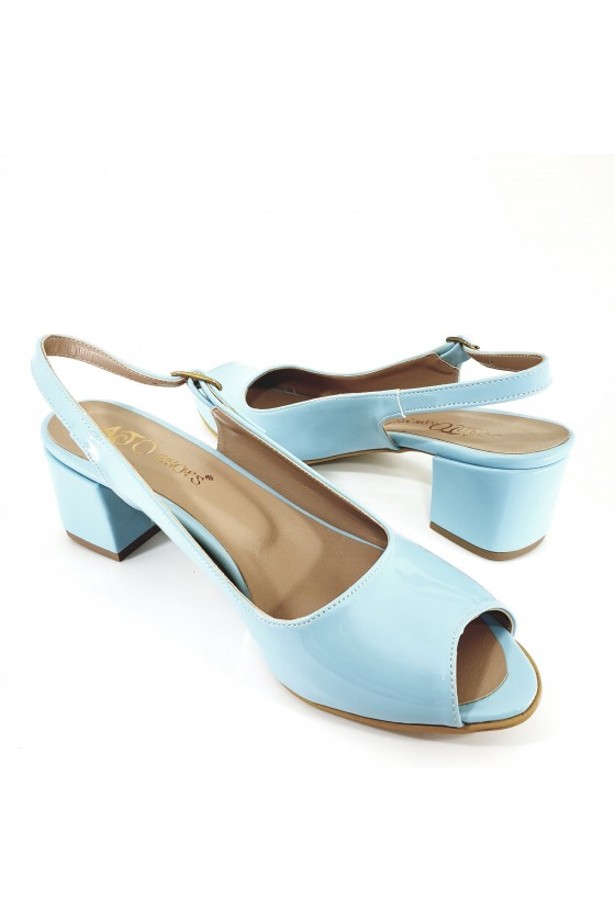 Lady sandals lt blue shine 706