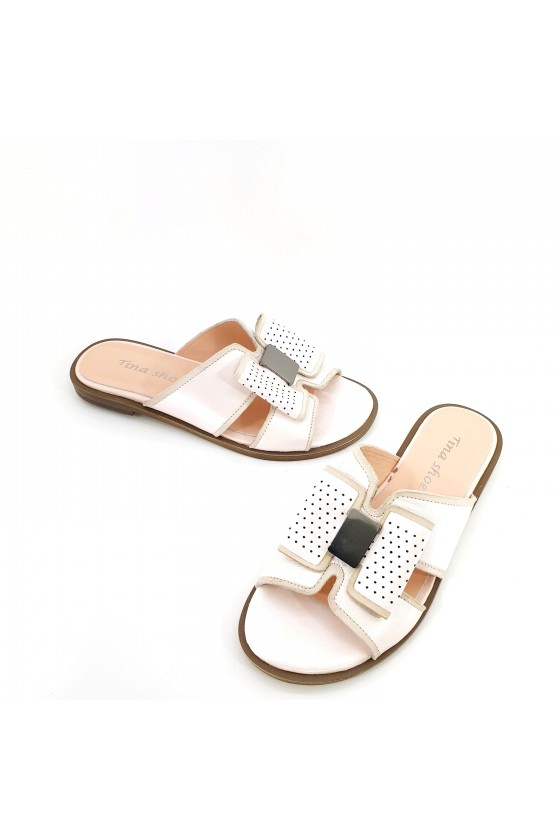 Lady flippers lt pink leather 1580