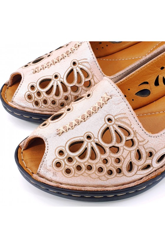 Lady sandals pink leather 2031-108