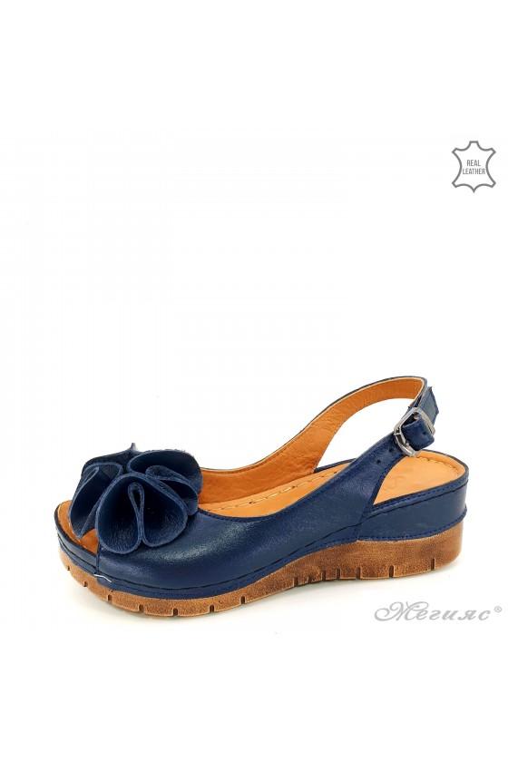 Дамски сандали XXL сини 1088