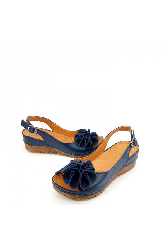 Дамски сандали сини 1088