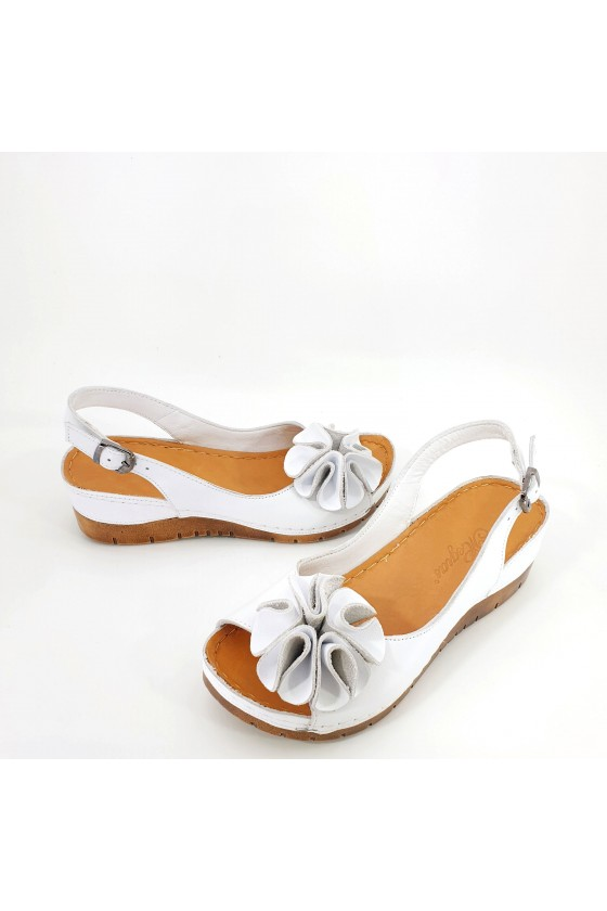 Дамски сандали XXL бели 1088
