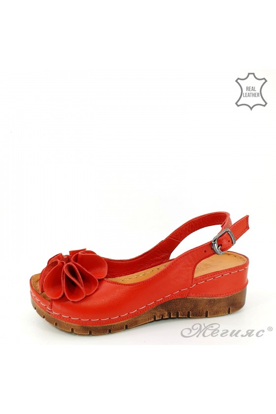 Lady sandals XXL red...