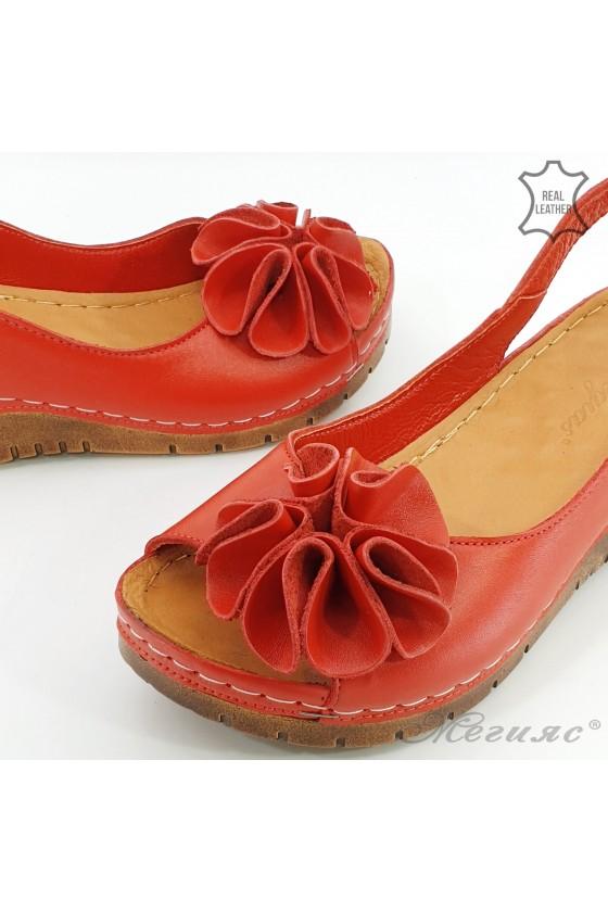 Дамски сандали XXL червени 1088