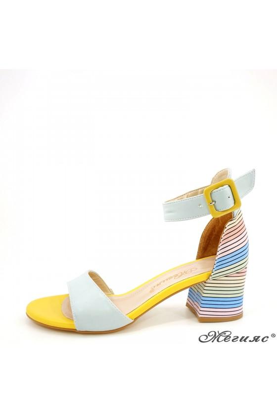 Lady sandals lt blue 808
