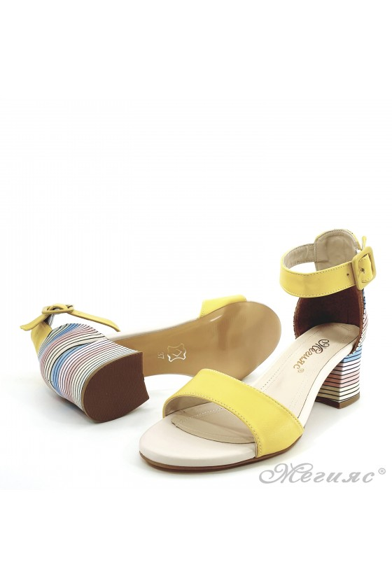 Lady sandals yellow 808
