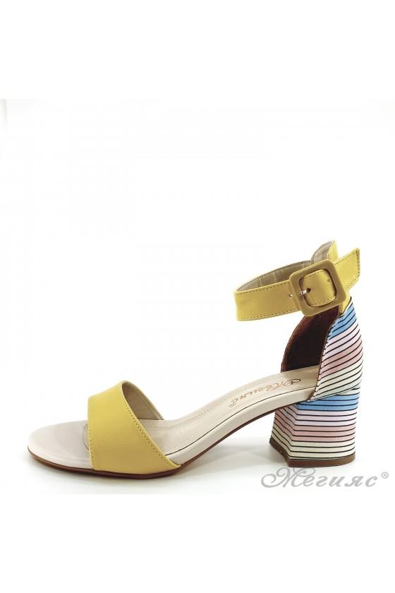 Дамски сандали жълти 808
