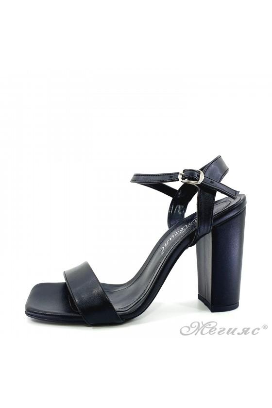Lady sandals black pu 1013