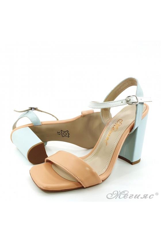 Lady sandals lt pink+lt blue pu 1013
