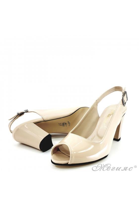 Lady sandals beige shine 88