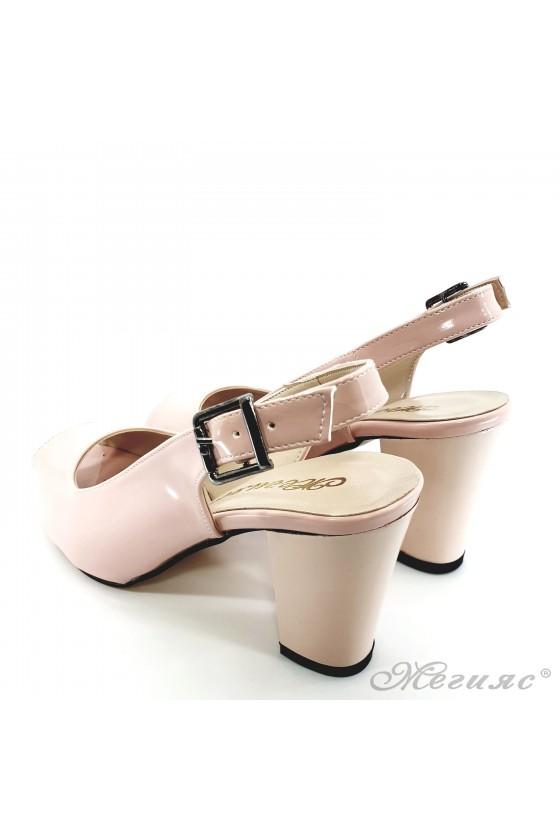 Дамски сандали от еко лак пудра 88