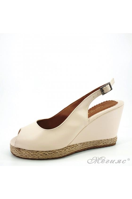 Дамски сандали бежови 116