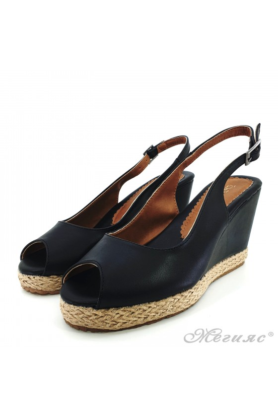 Lady sandals black pu 116