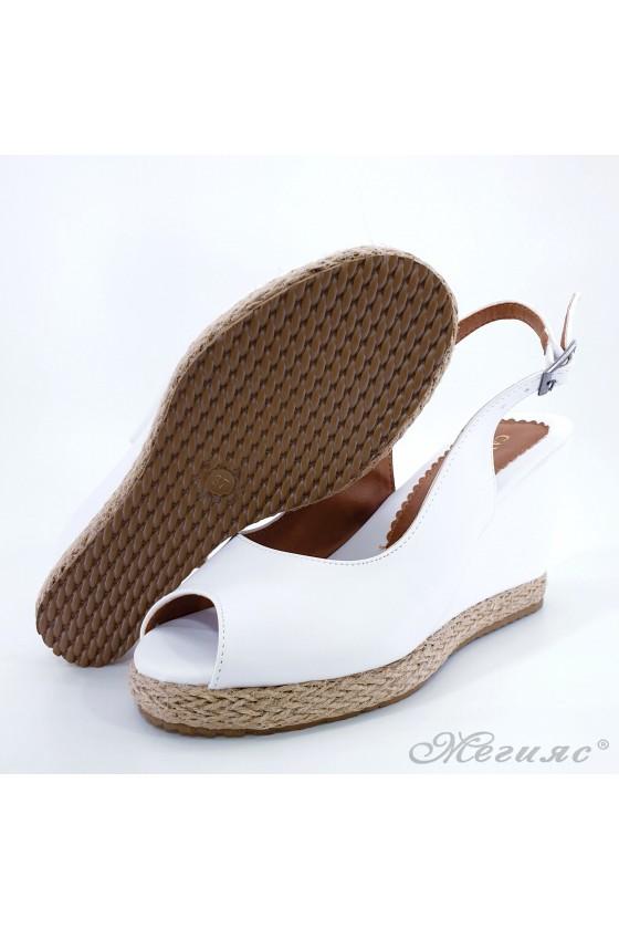 Lady sandals white pu 116