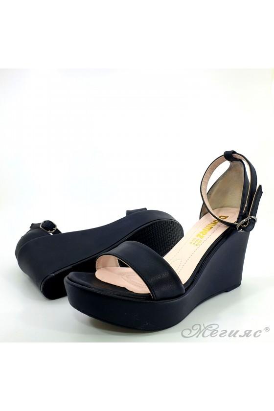 Lady sandals black pu 0216