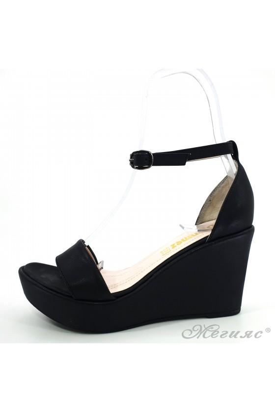 Дамски сандали черни 0216