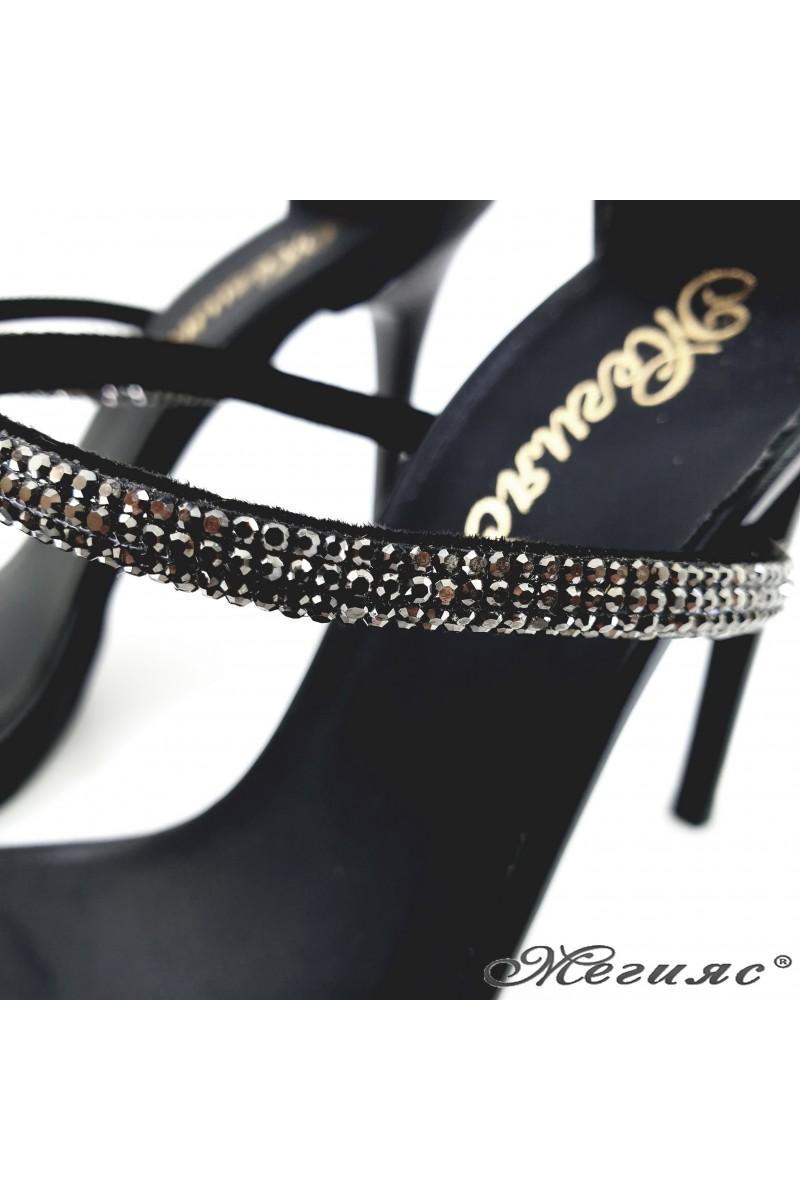 Дамски сандали черни 602