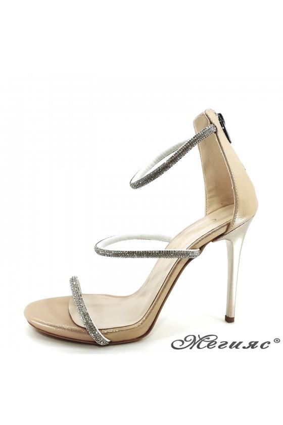 Дамски сандали златни 602