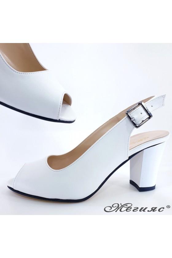 Lady sandals white pu 88