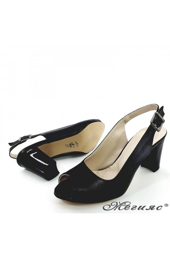 Lady sandals black pu 88
