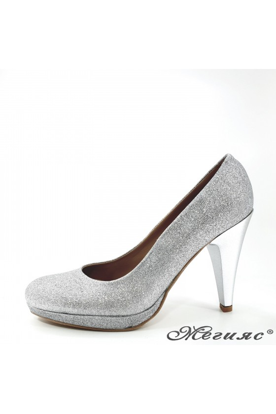 520 Lady shoes silver high...