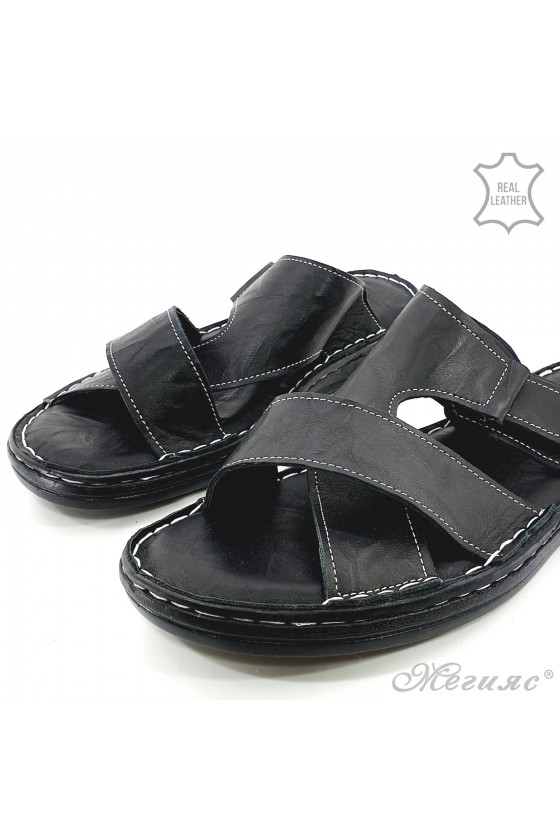 Мъжки чехли черни 203