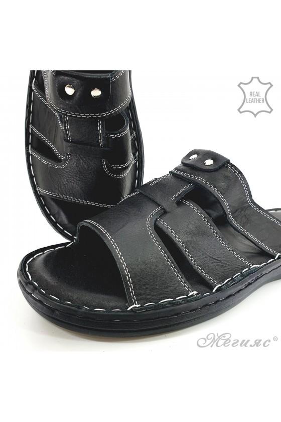 Мъжки чехли черни 201