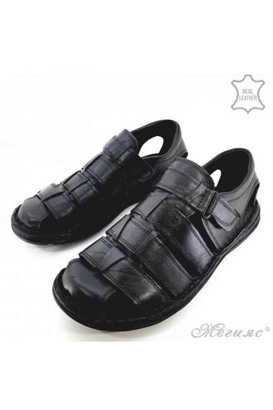 Мъжки сандали черни 018