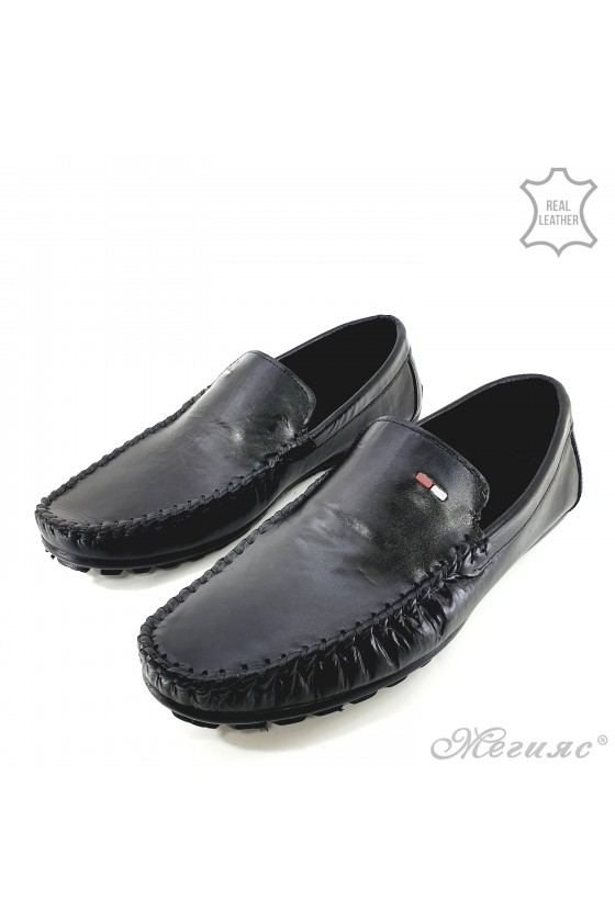 Мъжки обувки без връзки черни 01