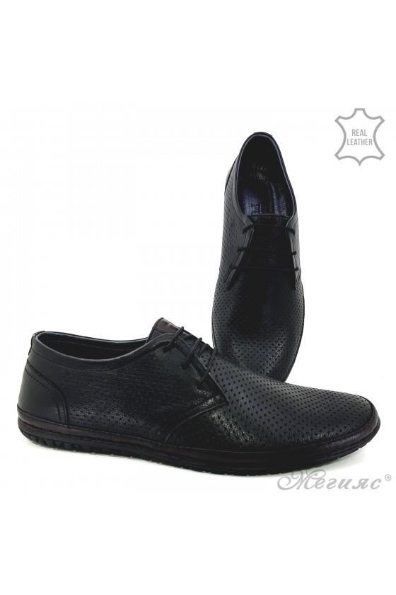 Men shoes XXL black leather 808