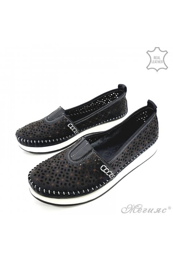 Дамски ортопедични обувки от естествена кожа черни 18
