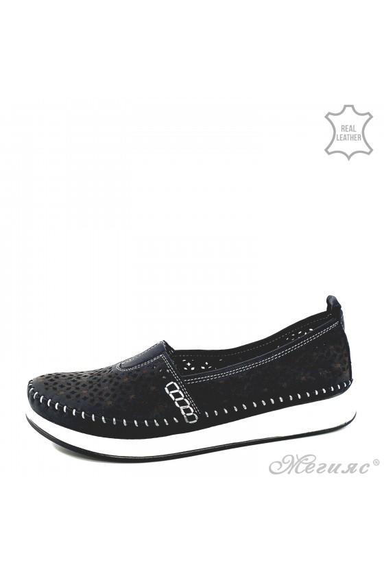 Дамски ортопедични обувки CAN от естествена кожа черни 18