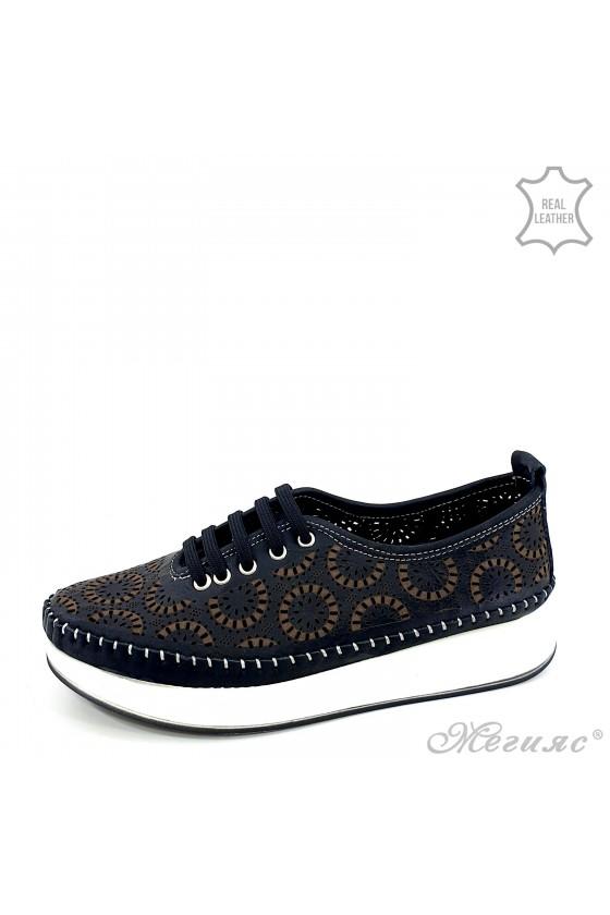 Дамски обувки от естествена кожа черни 83