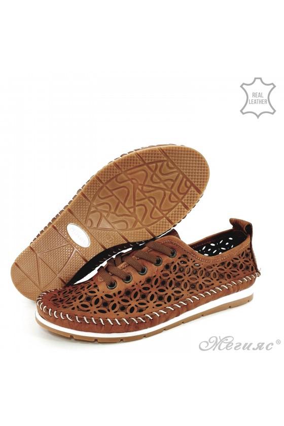 Дамски обувки CAN от естествена кожа таба 66